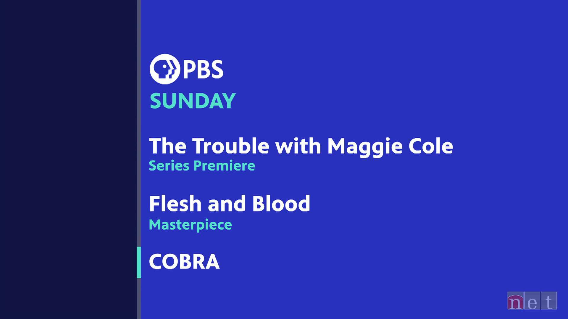 PBS Sunday Lineup Fall 2020 Oct 18
