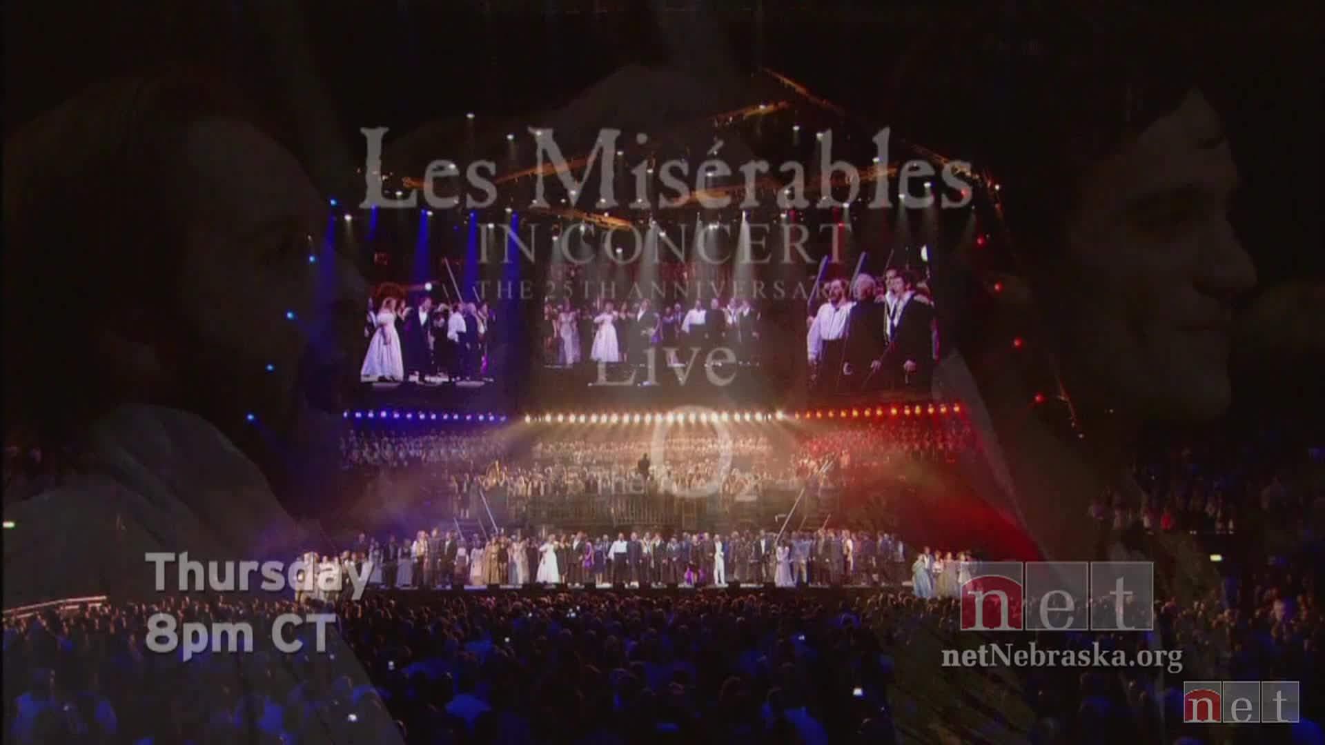 Les Miserables 25th Ann Concert Thur 8pm